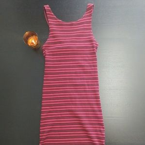 Topshop Bodycon Striped Racerback Dress Size 4